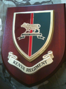Kenya Regiment Military Wall Plaque